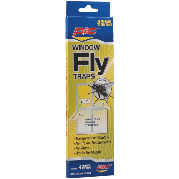 Pic Window Fly Traps, 4 count