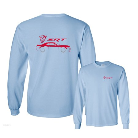 Dodge Challenger Demon Srt Silhouette Long Sleeve T Shirt