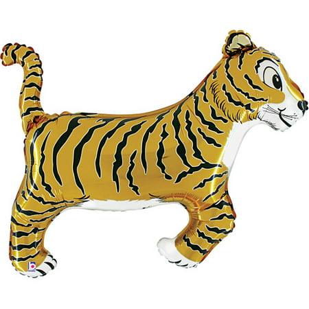 Tiger Shaped Mylar Balloon Shaped Mylar Balloon Well