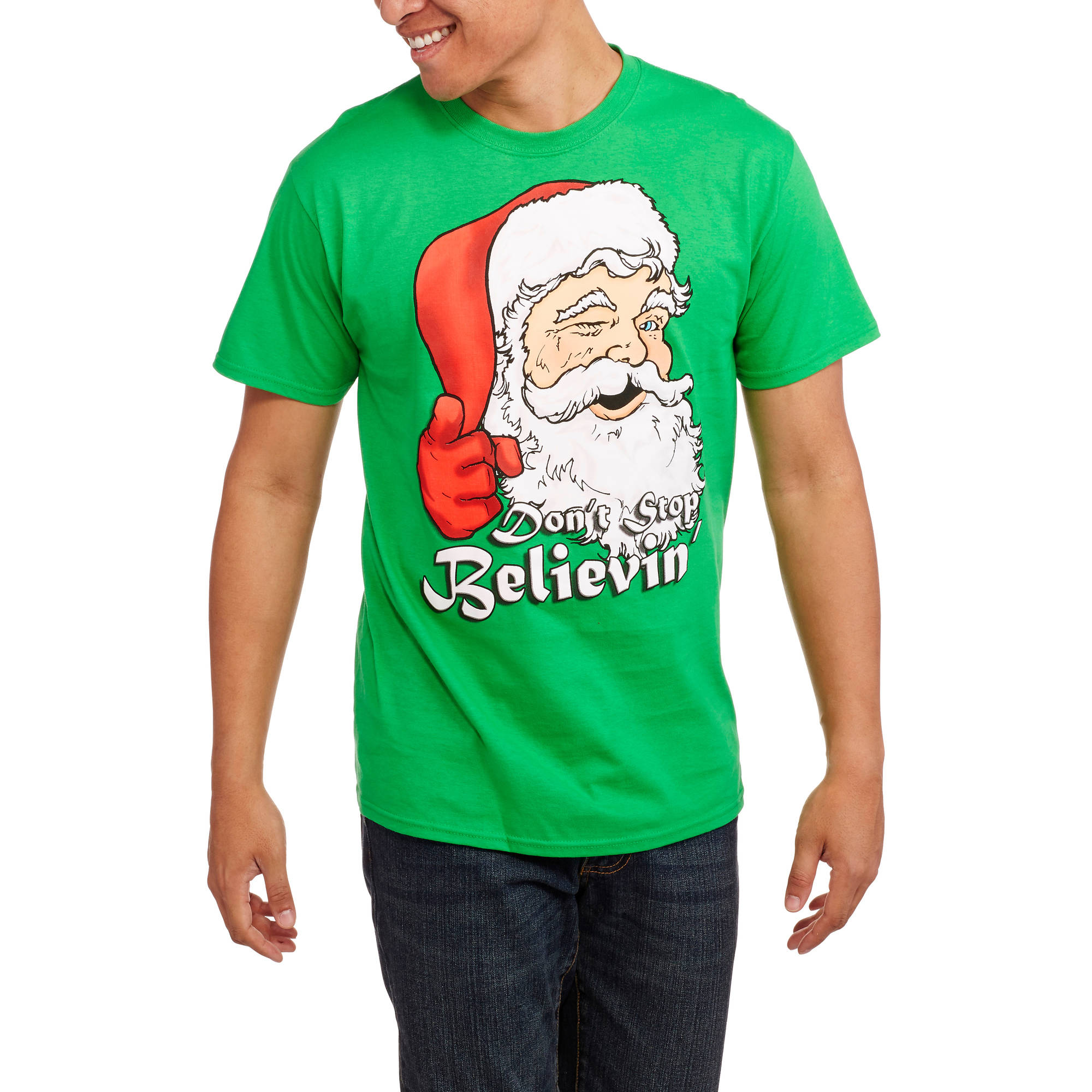 Christmas Men's Santa Believin Graphic Tee