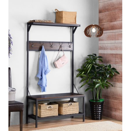 Mudroom Bench - Homestar 3-Shelf 39 in. Wide Hall Tree in multiple finish