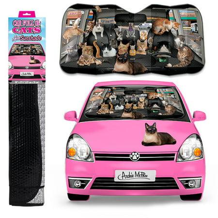 Auto Sunshade, Car Full Of Cats