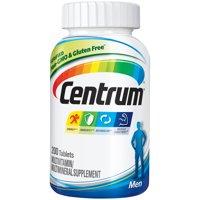 Centrum Men (200 Count) Complete Multivitamin / Multimineral Supplement Tablet, Vitamin D3, B Vitamins, Zinc