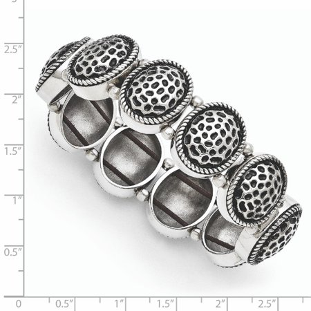 Stainless Steel Oval Stretch Bracelet Adjustable Wrap Fashion Jewelry Gifts For Women For Her - image 1 de 7