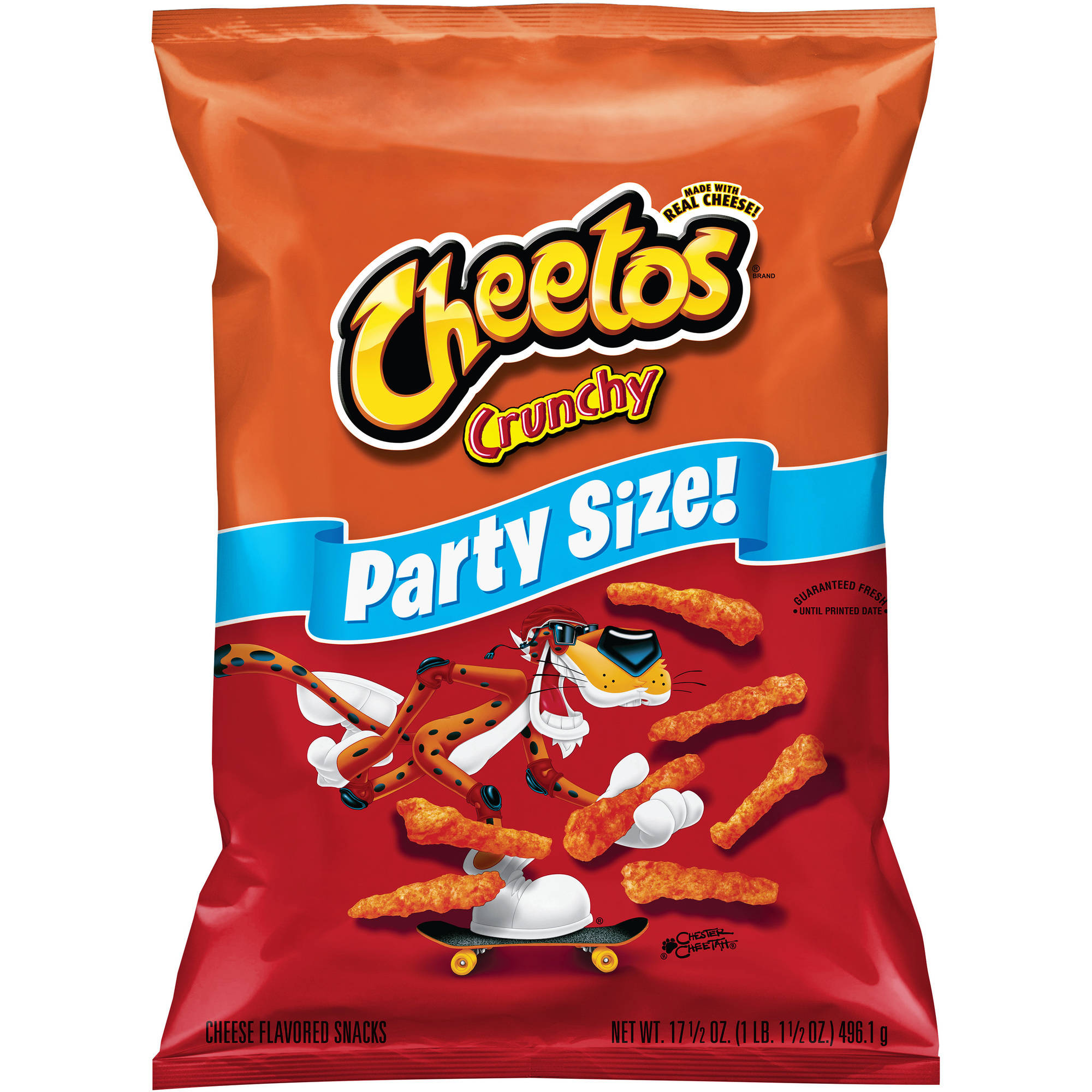 Cheetos Crunchy Cheese Flavored Snacks, Party Size, 17.5 oz.