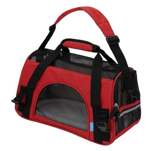 Oxgord Soft-Sided Cat/ Dog Comfort Travel Pet Carrier Bag (Small) Red