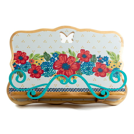 The Pioneer Woman® Floral Wood Cookbook Tablet Holder