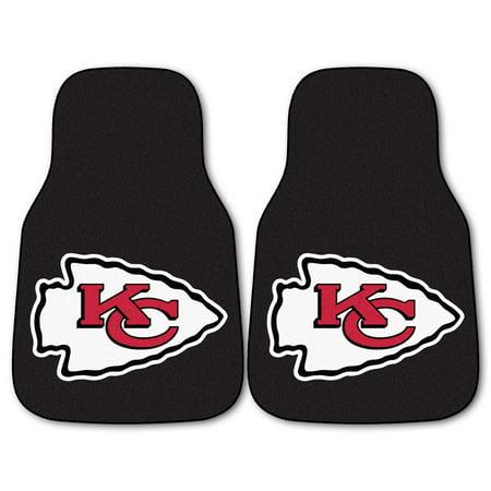 - NFL Kansas City Chiefs 2-PC Set of Front Carpet Car Mats, Universal Size