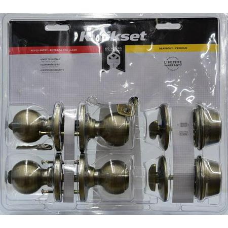 Kwikset Antique Brass Dblcmbo Frtbk Lkst Walmart Com