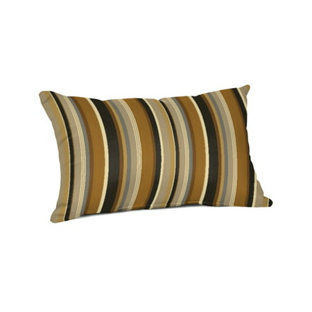 Sunbrella Pillow Covers - Sunbrella Rectangle 20 x 13 in. Throw Pillow - Espresso Stripe