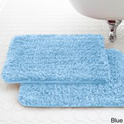 Amrapur Overseas Amraupur Overseas Spa Collection Shaggy Memory Foam Bath Mat (Set of 2)