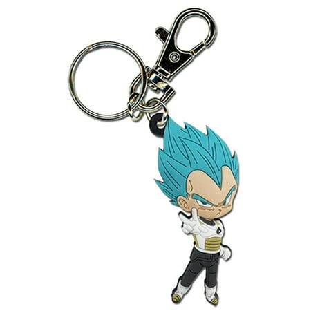 Great Eastern Entertainment Dragon Ball Super: Super Saiyan Blue Vegeta Pose PVC Keychain