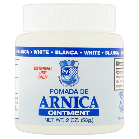 Sanvall Arnica White Ointment, 2 ounce – Pomada de Arnica Blanco, Topical Analgesic Pain Relief Remedy, Sore Muscle, Bruises, Sprains, Menthol
