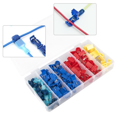 67pcs 24-10 AWG Quick Splice Solderless Wire and T-Tap Electrical Connector Assortment Kit with Case