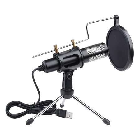 Yescom Condenser USB Microphone with Tripod Stand for Game