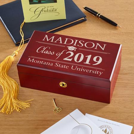 Personalized Graduation Wood Keepsake Box