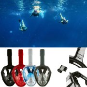 3rd Version Upgrade Swimming Full Face Mask Anti-Fog Surface Diving Snorkel Scuba for GoPro