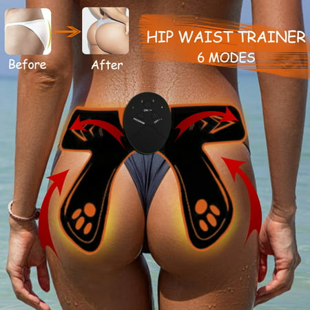6 Modes Intelligent EMS Hip Trainer Waist Fat Burning Muscle Training Sexy Buttocks Bum Lift Up Body Shapers - Foam Buttocks