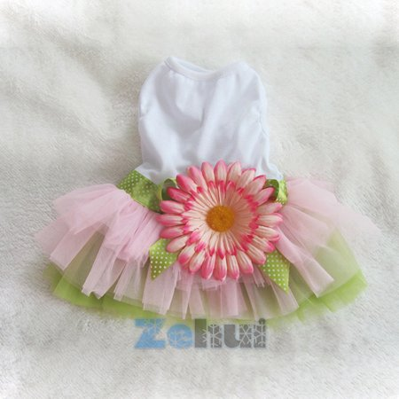 Sunflower Pet Tulle Tutu Skirt Small Dog Puppy Cat Sweet Vest Dress Clothes](Halloween Tutus For Dogs)