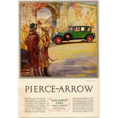 Magazine advertisment for the Pierce-Arrow motor car company of Buffalo NY Poster Print by Paul Gerding