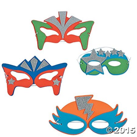 foam superhero masks 6 count - Dinosaur Foam Masks