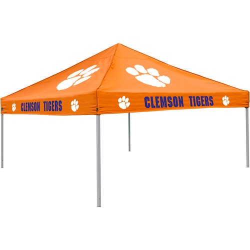 Logo Chair NCAA Clemson 9' x 9' Solid Color Tent, Sleeps 4