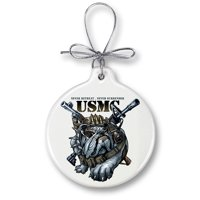 USMC Marine Corps Never Retreat Never Surrender-Christmas Tree Ornaments