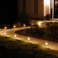 LumaBase Electric Pathway Lights, 10 Count Clear