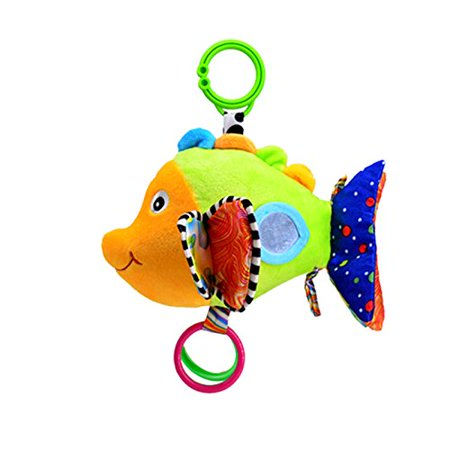 YeahiBaby Baby Toys Stroller Car Seat Toy Stroller Bell Hanger Infant Bed Cot Hanging Toys with Ringing Bell(Fish)