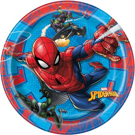 Spiderman Paper Dessert Plates, 7in, 24ct