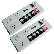 2x 8 Outlet Managed Power Strip Surge Protector 1050 J Energy Control 6FT Cord