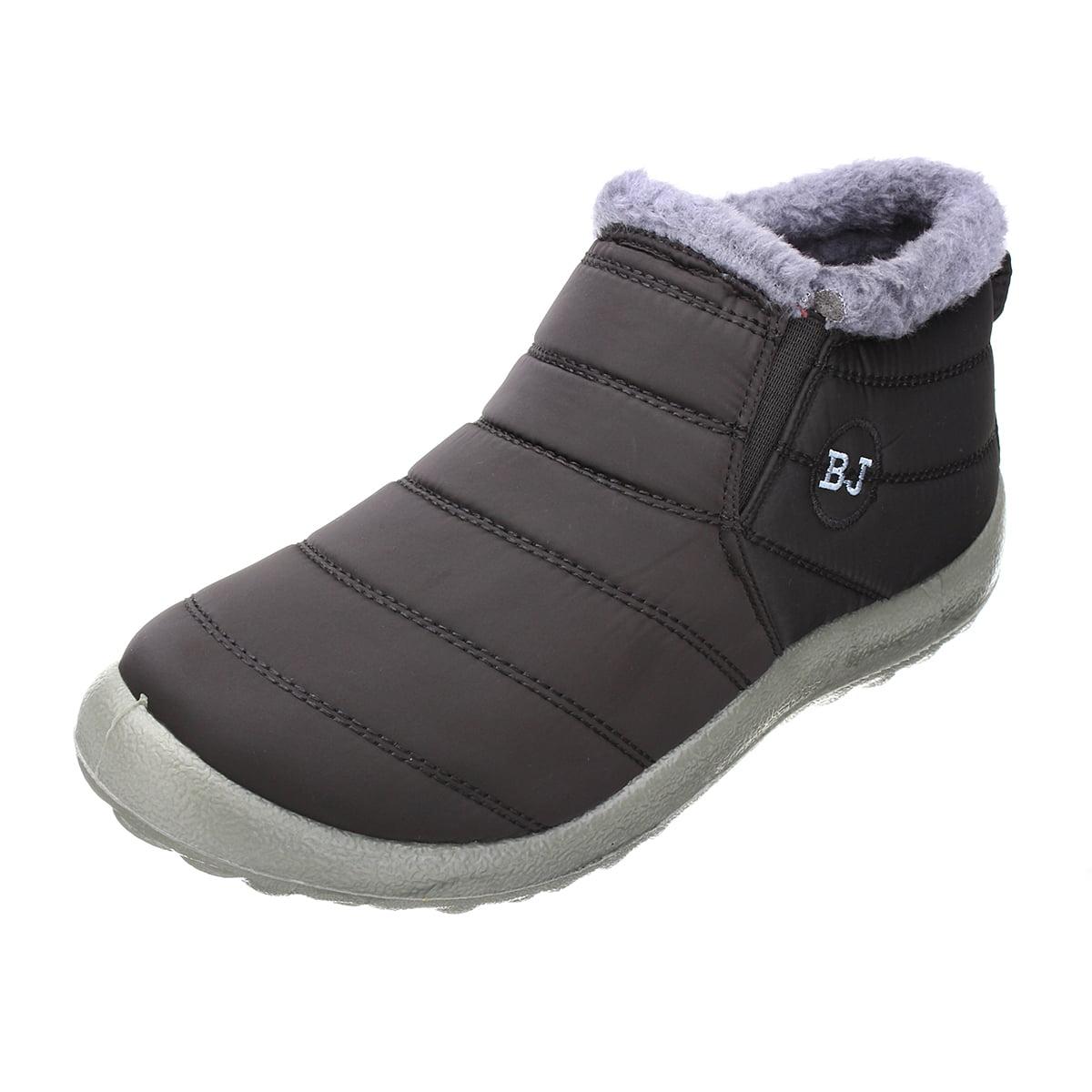 Women Boots Warm Fabric Fur-lined Slip