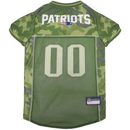Pets First NFL New England Patriots Camouflage Jersey For Dogs, 5 Sizes Available, Pet Shirt For Hunting, Hosting a Party, or Showing off your Sports Team