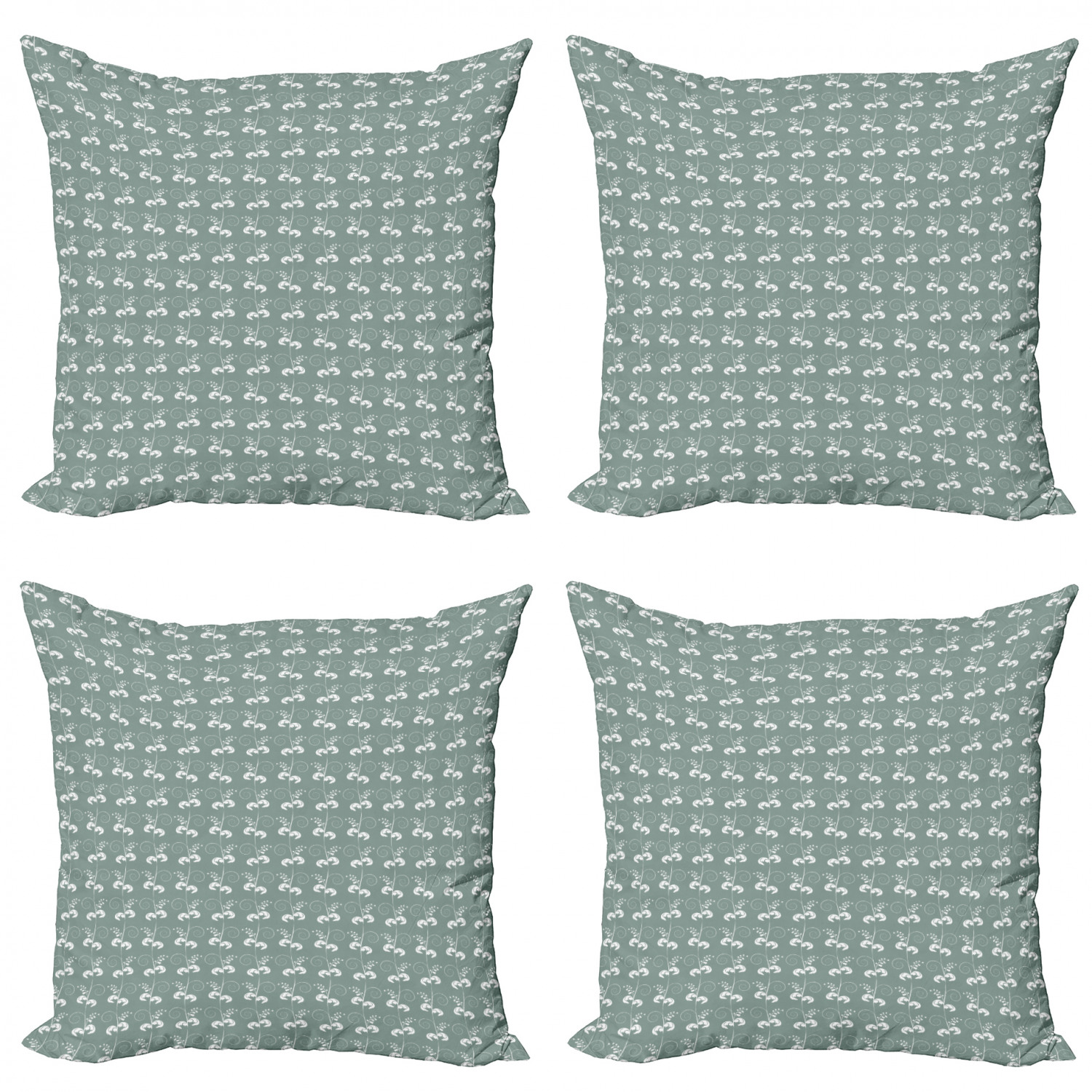 Green Throw Pillow Cushion Case Pack Of 4 Victorian Style Swirled Branches Twings Blooms Artwork Print Modern Accent Double Sided Print 4 Sizes Pale Sage Green White By Ambesonne Walmart Com Walmart Com