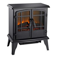 20-In Electric Stove in Matte Black