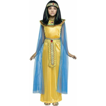 Golden Cleopatra Child Halloween Costume - Homemade Cleopatra Costume