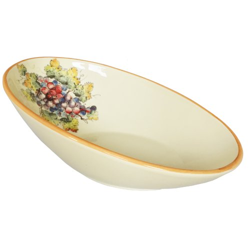 Abbiamo Tutto Vineyard Grape Large Oval Pasta Bowl by