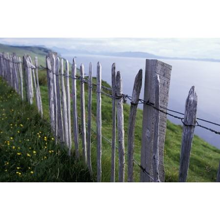Wooden Fence On Hillside By Sea Canvas Art - Sasha Gusov  Design Pics (38 x (Sasha Grey Best Pics)