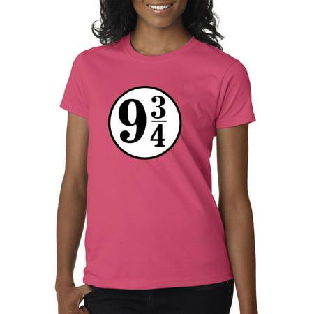 New Way 929 - Women's T-Shirt 9 3/4 Harry Potter Hogwarts Express XL Heliconia](Express Women)