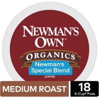 Newman's Own Organics Special Blend K-Cup Coffee Pods, Medium Roast, 18 Count for Keurig Brewers