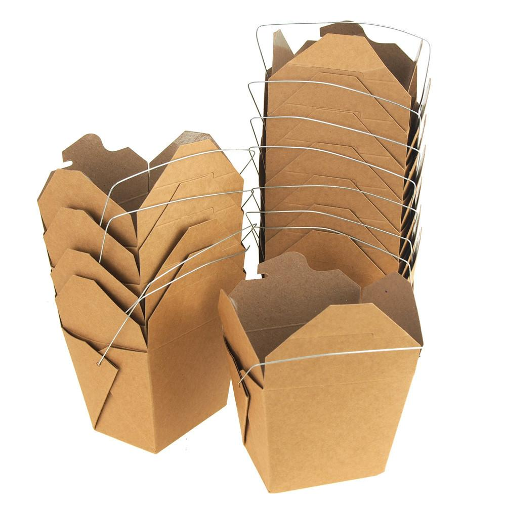 Take Out Boxes with Wire Handle, 3-1/4-Inch, 12-Piece