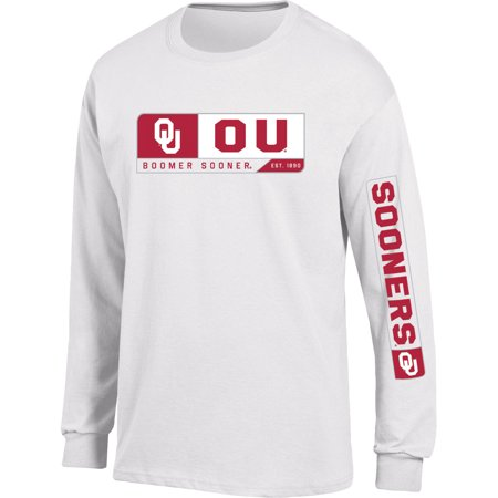 - Men's Russell White Oklahoma Sooners Team Long Sleeve T-Shirt