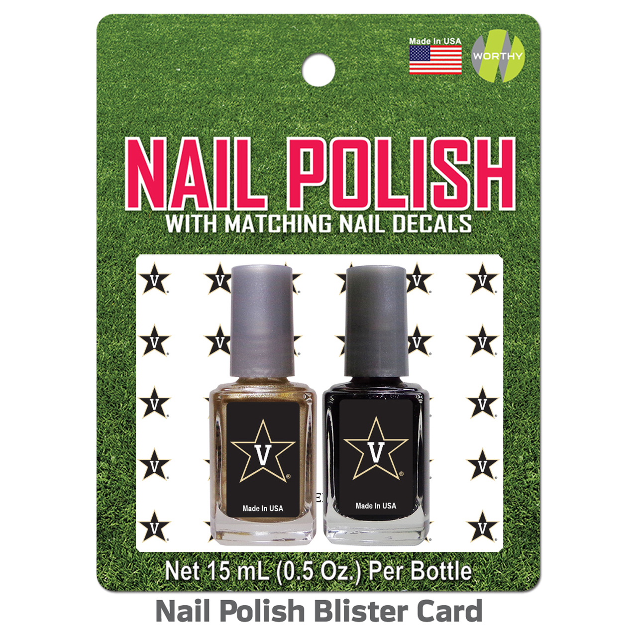 Vanderbilt Commodores 2 Pack Nail Polish With Decal  - Team Color