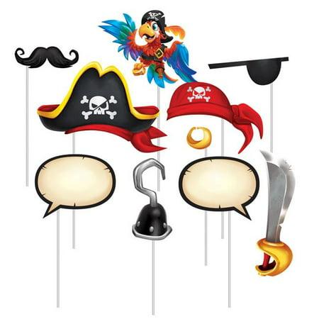 Creative Converting 340197 Treasure Island Pirate Photo Booth Props, 10