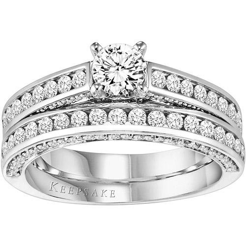 Keepsake Felicity 1-1/2 Carat T.W. Diamond 14kt White Gold Diamond Bridal Set