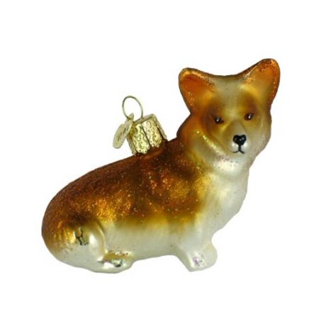 Old World Christmas Pembroke Welsh Corgi Glass Blown Ornament Christmas Blown Glass