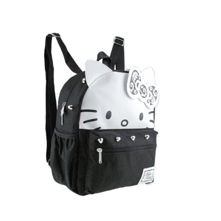 Leather Hello Kitty 12 Silver Stud Small/Mini Backpack - Hello Kitty Backpack With Bow