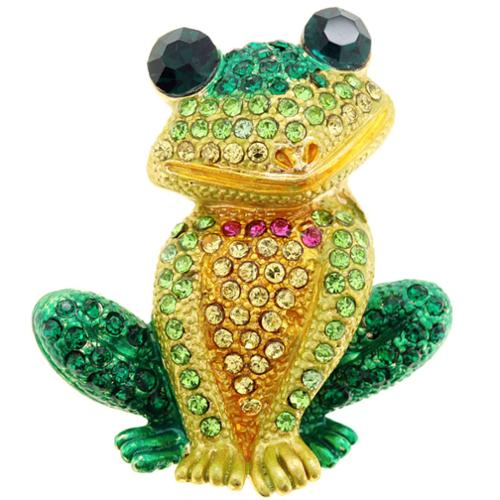 Fantasyard Green Frog Animal Brooch