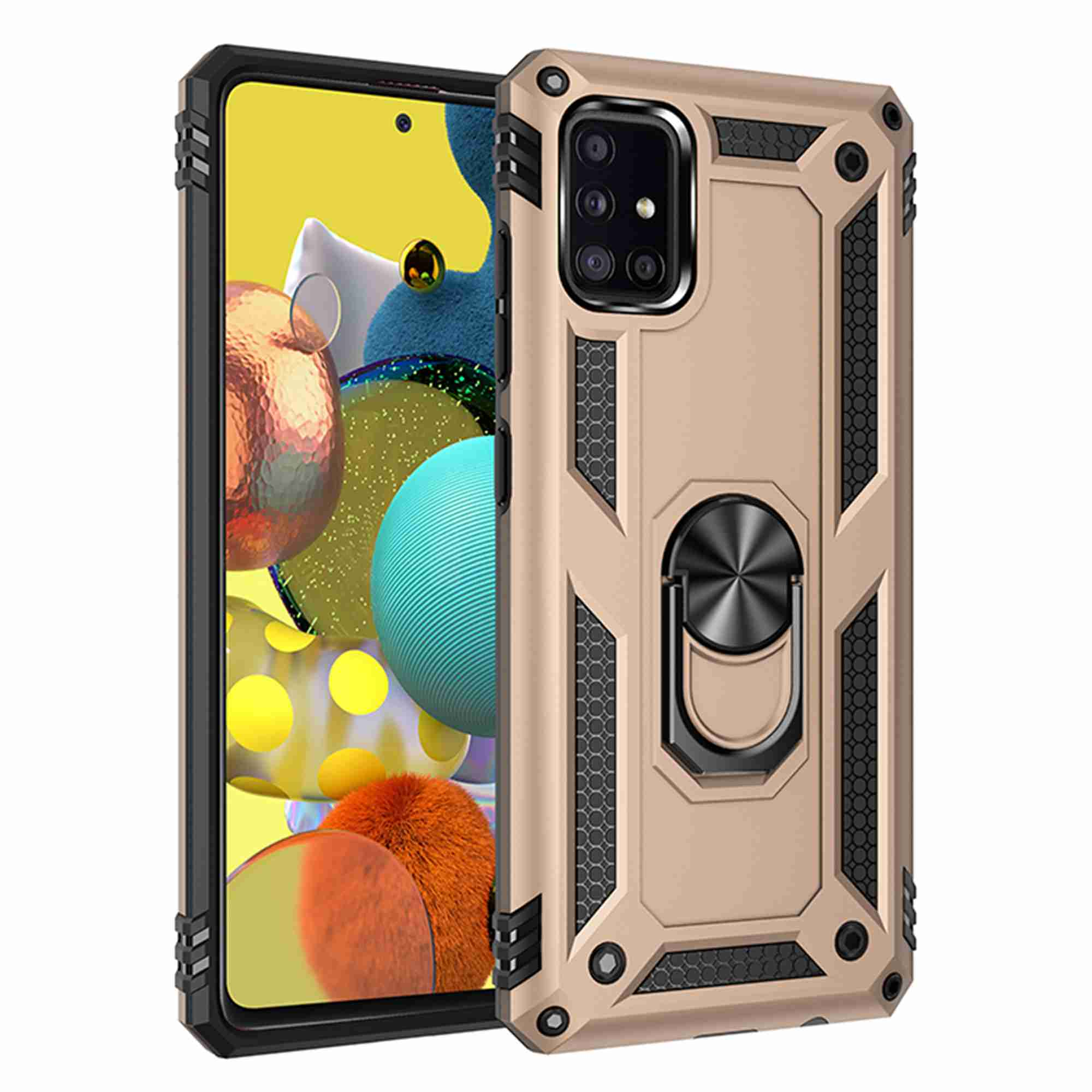 Dteck Heavy Duty Shockproof Case For Samsung A71 5g Not Fit A71 5g Uw Verizon Not Fit For A71 4g Metal Magnetic Ring Holder Protive Armor Phone Cover Kickstand For Samsung Galaxy