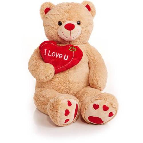 Jumbo 48 teddy bear with i love you heart walmart altavistaventures Images